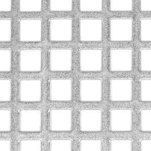 Chapas perforadas con agujeros cuadrados