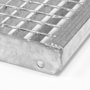Peldaños de religa galvanizado en caliente para atornillar con malla de seguridad